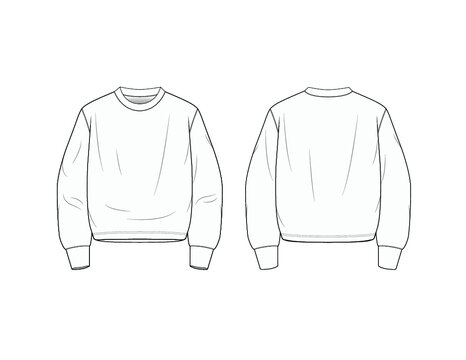 Crewneck Pullover Sweater Merch Design Template