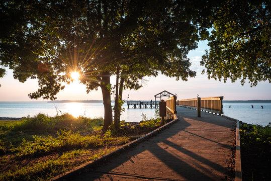 A Spring morning along the Potomac River at Leesylvania State Park in Woodbridge, Virginia.