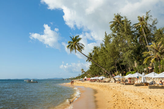Beach on a sunny day, on the west side of the Phu Quoc island, Vietnam