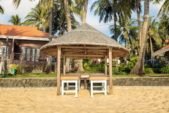 Spa beds waiting for the customers, Phu Quoc island, Vietnam