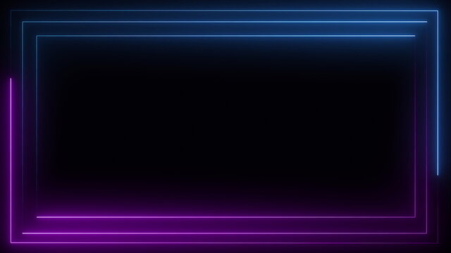 Neon lights  blue and purple seamless loop background motion graphics animation.