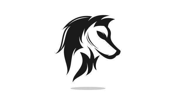 Elegant wolf vector logo