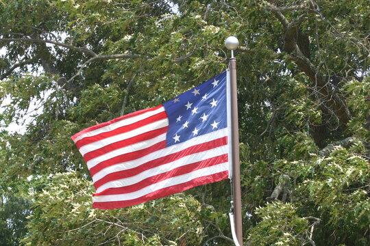 Revolutionary American Flag Yorktown Virginia