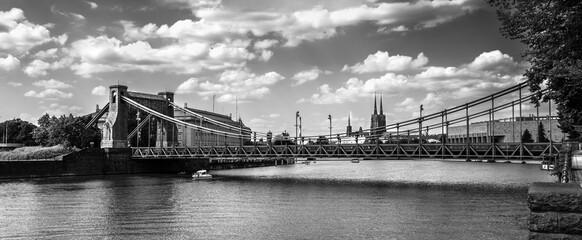 Fototapeta Wrocław - Most Grunwaldzki Wroclaw - Grunwaldzki Bridge - Poland obraz