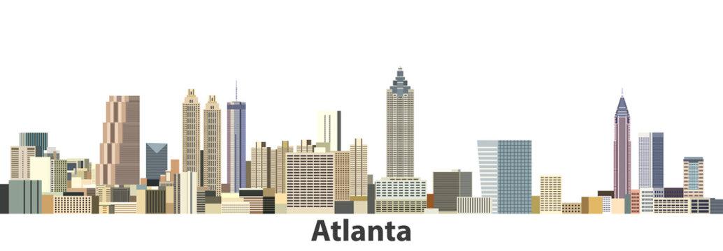Atlanta vector city skyline