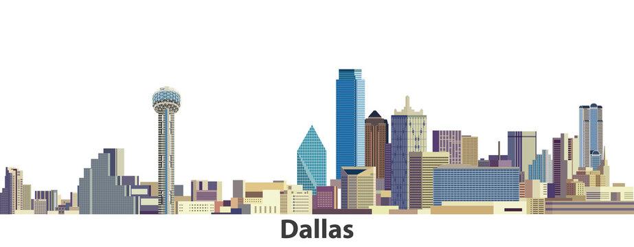 Dallas vector city skyline