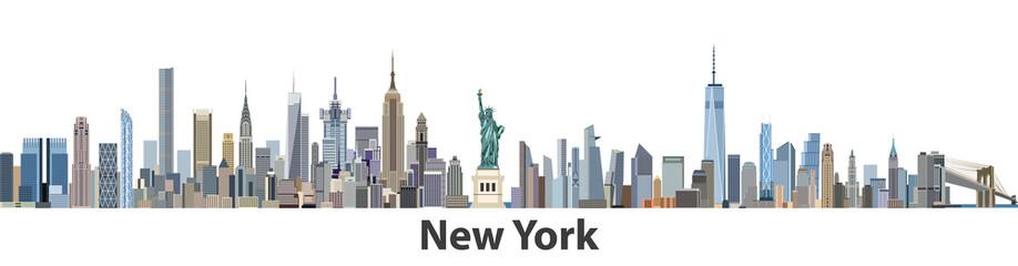 New York vector city skyline Fototapete