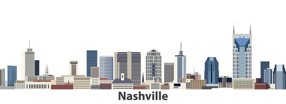 Nashville vector city skyline