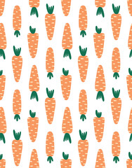 cute seamless pattern with carrots, vector illustration