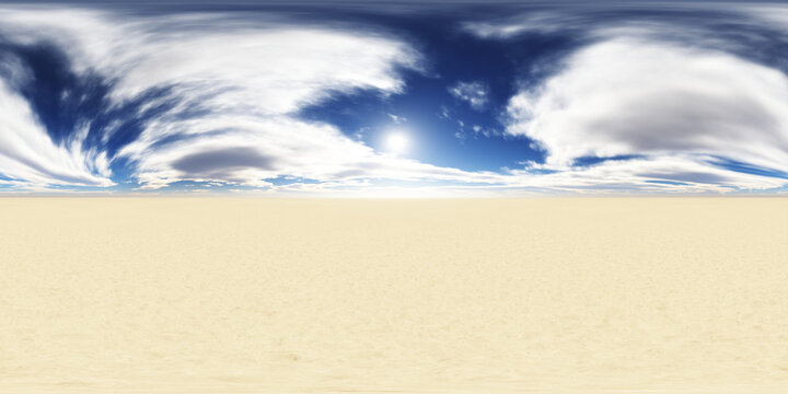 360 degree nature environment texture background. Landscape HDRI map. Equirectangular projection, spherical panorama