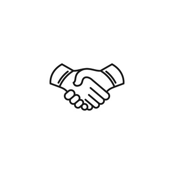 Business agreement handshake icon vector illustration, friendly handshake icon for apps and websites
