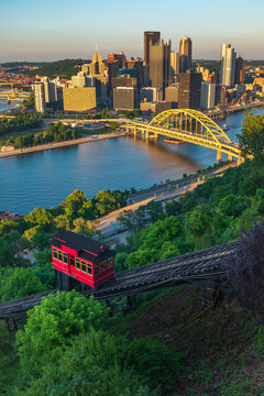 Pittsburgh from Grandview Avenue looking over the Duquesne Incline.
