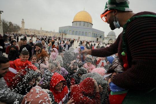 Muslims mark the ascension of Prophet Mohammed in Jerusalem's Old City