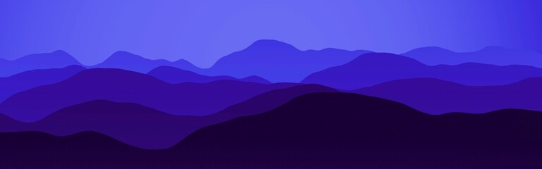 amazing mountains peaks at night time digital art backdrop illustration