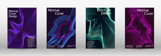 Obraz Modern design template. A set of modern abstract covers. - fototapety do salonu
