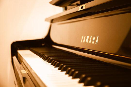 Yamaha Piano close-up view
