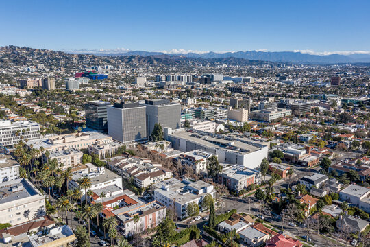 Hollywood Cityscape By Air