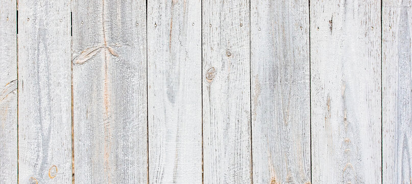Natural aged white watercolor painted wood wall texture for print or design.