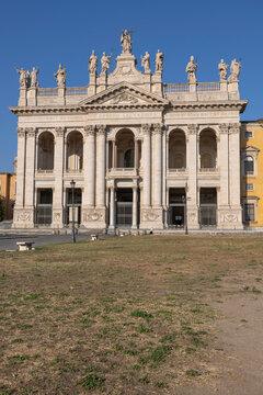 Italy, Rome, Basilica of Saint John Lateran, Basilica at summer day