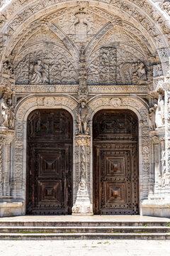Portugal, Lisbon, Portal of Jernimos Monastery