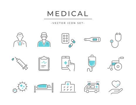 医療・メディカルのアイコンセット