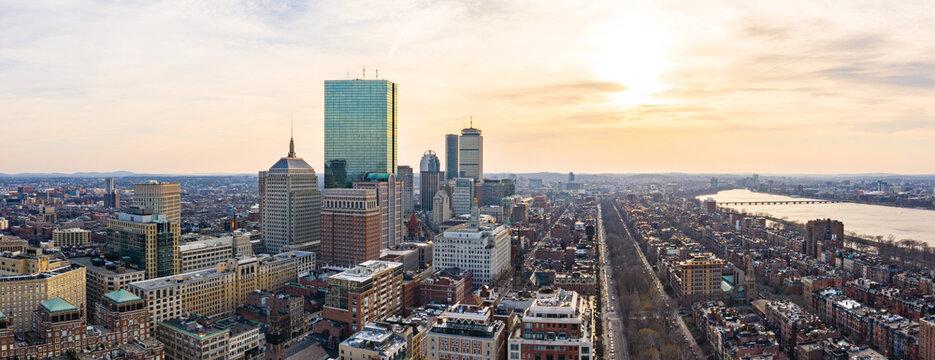 Panorama of Boston Skyline
