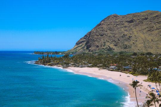 Beach, Mauna Lahilahi, Makaha, West coast of Oahu island, Hawaii