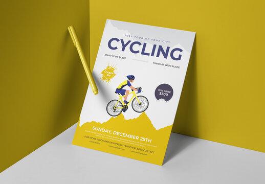Cycling Racing Championships Sports Flyer