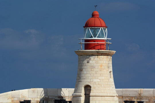 The Grand Harbour lighthouse. Valletta. Malta