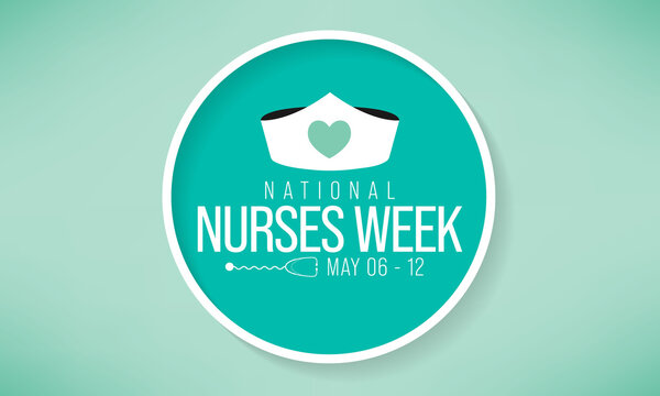 National Nurses week is observed in United states from May 6 to 12 of each year, to mark the contributions that nurses make to society. Vector illustration.