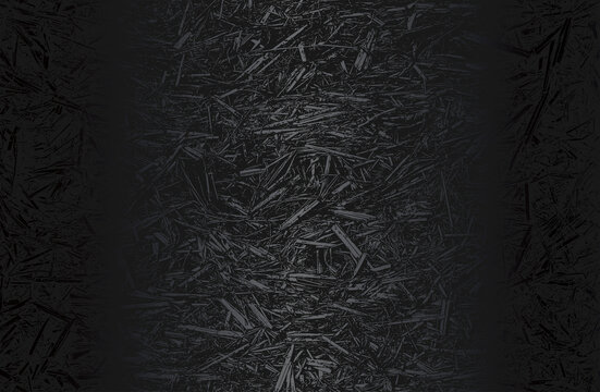 Luxury black metal gradient background with distressed closeup leaf texture with streaks.