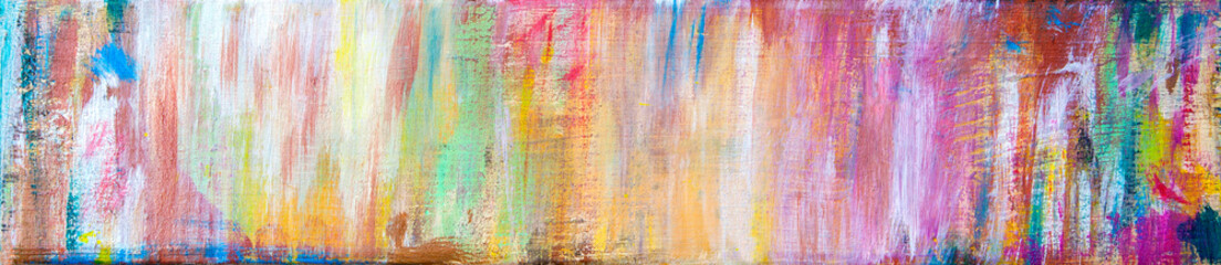 Fun, inspirational & creative art background in bright colours and pastels - abstract art design in panorama / header / banner style.