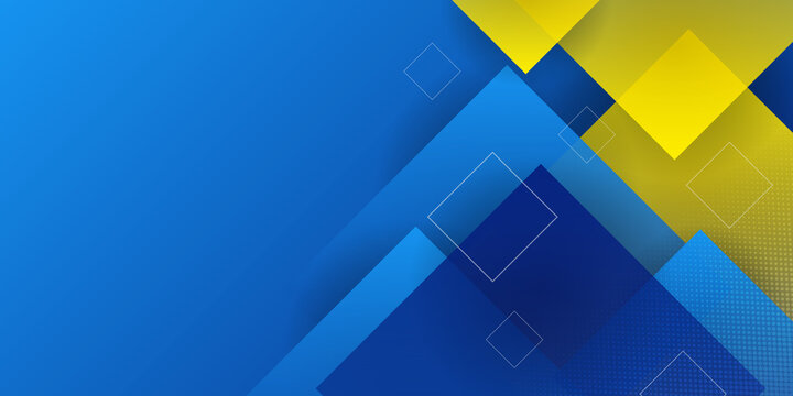Vector blue yellow geometric background in Swedish flag concept. Can be used in cover design, book design, website background, CD cover, advertising.