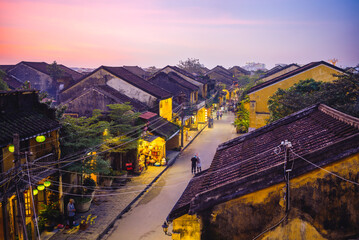 view over hoi an ancient town in vietnam, an unesco world heritage site