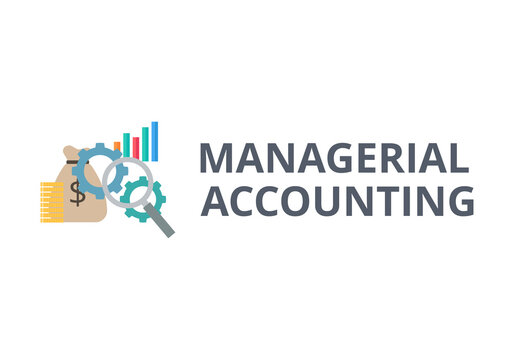 Managerial accounting vector. Finance and business concept.
