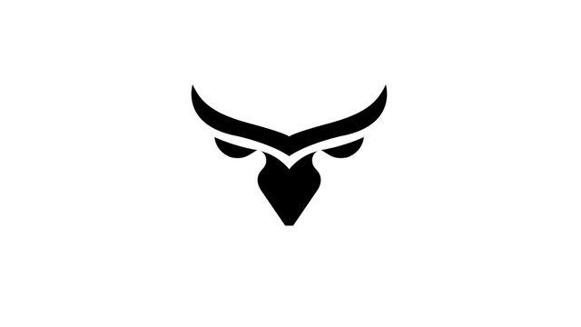 Creative Bull Head Logo Vector