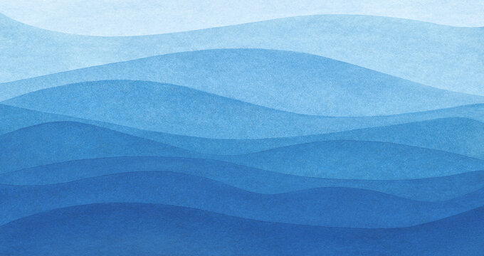 Blue azure turquoise abstract watercolor background for textures backgrounds and web banners design. Abstract  background blue colors. Watercolor painting with turquoise sea waves pattern gradient.