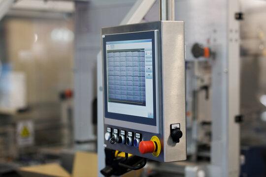control panel of testing equipment