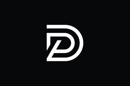 DP logo letter design on luxury background. PD logo monogram initials letter concept. DP icon logo design. PD elegant and Professional letter icon design on black background. D P PD DP