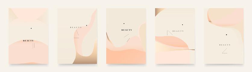 Obraz Contemporary abstract universal background templates. Minimalist aesthetic. - fototapety do salonu