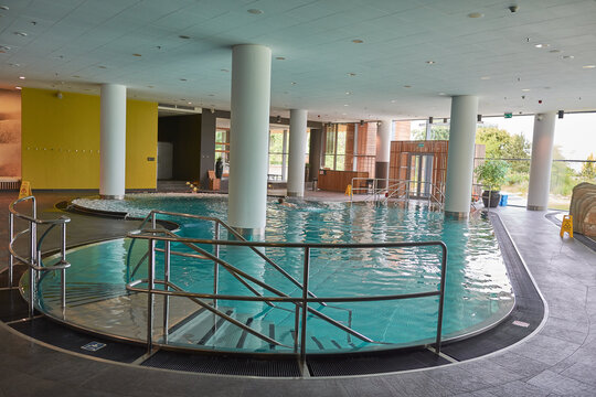 swimming pool and spa of marriott hotel in Sopot, Poland