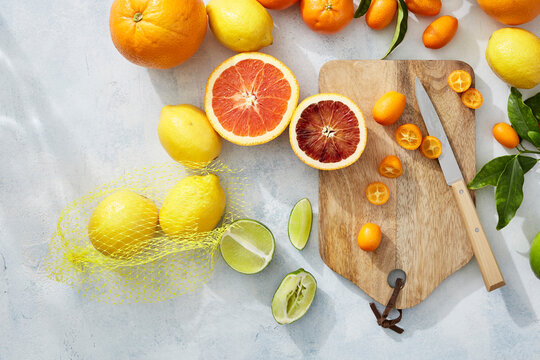 Citrus and Cutting Board.