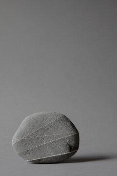 Stone on studio background