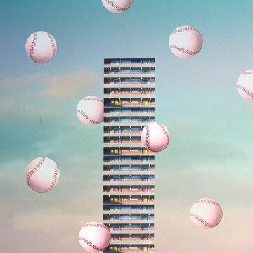 surreal graphic skyscraper