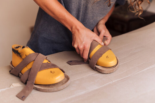 Shoe molds and leather straps