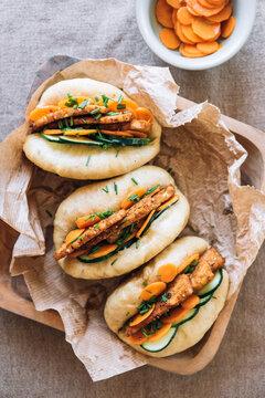 Bao buns with tempeh