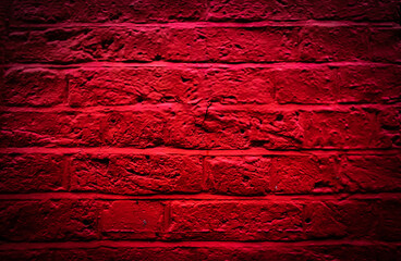 Red bricks background. Red brick wall copy space.
