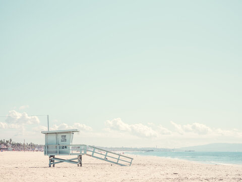 A lifeguard station on Venice Beach, Los Angeles
