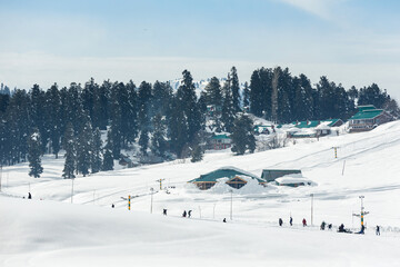 The ski town of Gulmarg, Kashmir