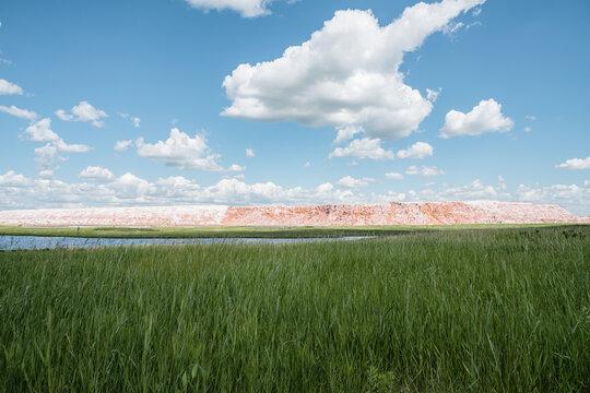 salt mountain of potash mine